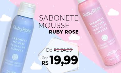 Sabonete Mousse Ruby Rose