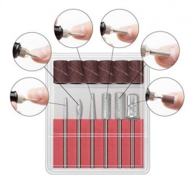 Kit brocas com 6 brocas e 6 lixas para micrômetro e lixadeira