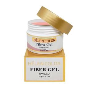 Gel para unhas de gel Helen Color fibra gel Nude Rosê 20g