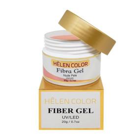 Gel para unhas de gel Helen Color fibra gel Nude Pele 20g