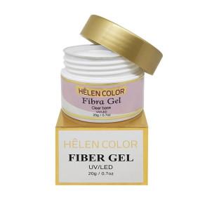 Gel para unhas de gel Helen Color fibra gel Clear Base 20g