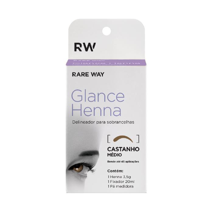 Henna para sobrancelha Glance Rare Way 3,5 G